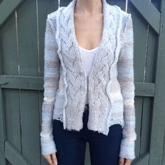 Free People light and gray cardigan sweater! Free people gray and light blue cardigan sweater! So soft. Size XS. Worn once, excellent condition. BUNDLE and SAVE! Free People Sweaters Cardigans