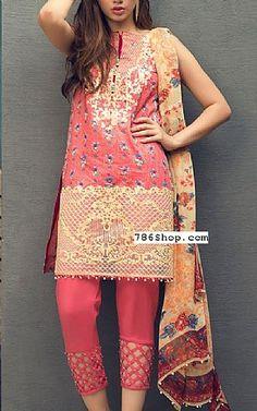 Tea Pink Lawn Suit | Buy Alkaram Pakistani Dresses and Clothing online in USA, UK Pakistani Lawn Suits, Pakistani Dresses, Indian Dresses, Indian Outfits, Dresses Kids Girl, Cute Dresses, Fashion Pants, Fashion Dresses, Casual Wear