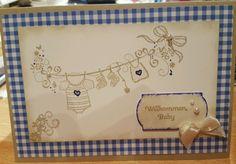 Geschenk Karte Baby stampin up in Möbel & Wohnen, Hobby & Künstlerbedarf, Basteln   eBay