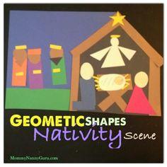 Mommy. Nanny. Guru.: CHRISTmas: 2D Shape Nativity