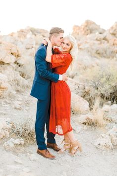 Romantic Fall Engagement Session at Antelope Island - Prom Dresses Design Dresses For Engagement Pictures, Fall Engagement Outfits, Engagement Photo Dress, Fall Engagement Shoots, Country Engagement Pictures, Engagement Dresses, Engagement Couple, Engagement Session, Engagement Photos