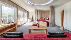 Suite im Hotel Ritzenhof****s in Salzburg. Wellness Hotel Salzburg, Spa Hotel, Hotels, Wellness Spa, Curtains, Luxury, Room, Beauty, Home Decor