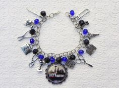 Greys Anatomy Inspired charm Bracelet by LilSoldiersBoutique