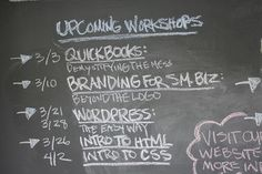 Chalkboard at Greenpoint Coworking | Flickr - Photo Sharing!  The rise of continuing education while we work.