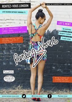 Fashion pop-up event poster, via Behance