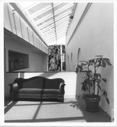 Third floor lobby (of newer wing) looking good in 1990 at Thalian Hall.