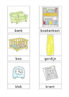 Woordkaarten Bas 'De woonkamer' 1