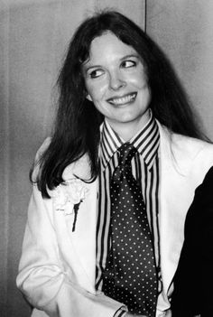 Diane Keaton - during the Annie Hall era. Her character in the Woody Allen film Annie Hall turned womens dress codes upside down. Wearing ties, waistcoats, shirts, layers, wide trousers - boyfriend style meant women didn't feel they had to wear 'a dress' to feel sexy or confident.