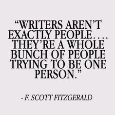 Writers... also do research (I like my followers, thank you for following me) ;)