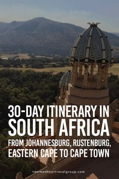 Itinerary in South Africa from Johannesburg, Rustenburg, Eastern Cape to Cape Town South Africa is blessed with more than its fair share of the world's incredible wildlife, landscapes and people. A land of contrast, from getting up close to leopard Africa Destinations, Le Cap, Best Travel Guides, Cape Town South Africa, African Safari, Africa Travel, Travel Around The World, Travel Pictures, Travel Goals