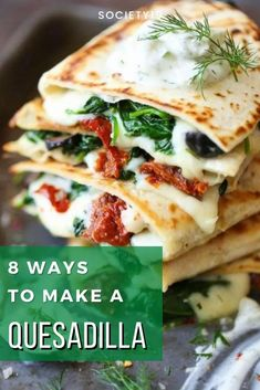 8 Ways To Make A Quesadilla Easy Food To Make, How To Make, Real Kitchen, Food Goals, Ramen Noodles, Quesadilla, Delicious Food, Great Recipes, Easy Meals