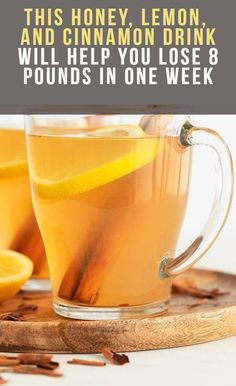 This Honey, Lemon, And Cinnamon Drink Will Help You Lose 8 Pounds in One Week - Healthy Holistic World Honey Drink, Lemon Drink, Honey Cinnamon Drink, Diet Drinks, Healthy Drinks, Healthy Eating, Healthy Meals, Beverages, Healthy Smoothies
