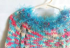 Little Girl Poncho. Knit Poncho. Aqua. by JoyfulHandKnits on Etsy