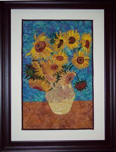 Virginia Robertson's van Gogh inspired art quilt