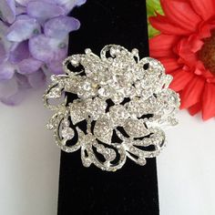 Valentines Sale!  Ravishing Large Round Multi Layered Rhinestone Brooch for $20.00 on sale until 2-14. www.CCCsVintageJewelry.com Free Shipping to the US via USPS First Class Mail. Gorgeous Brooch!
