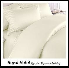 Royal Hotels 8pc Queen size BedinaBag Solid Ivory 600ThreadCount Siberian Goose Down Alternative Comforter 100 percent EgyptianCotton  includes sheets and Duvet Cover Sets >>> Be sure to check out this awesome product.