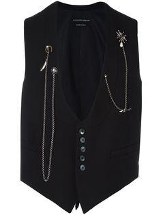 Alexander McQueen chain embellished waistcoat