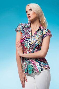 Love this #perfectprint #light #blouse #fashion #style #clothes Spring 2014, Spring Summer, Style Clothes, Button Down Shirt, Men Casual, Blouse, Mens Tops, Shirts, Beauty