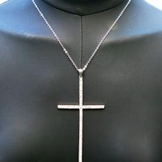 collar con cruz en cristales