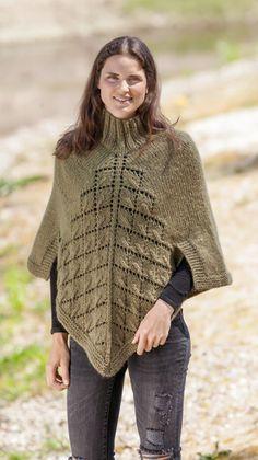 strikket poncho