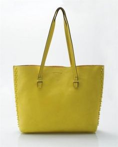 Tosca Spiked Faux Leather Tote Bag 1