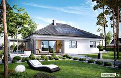 Cute little modern style family home. Projekt domu Astrid (mała) G2 by Pracownia Projektowa ARCHIPELAG