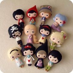 Fairy Tale Dolls pdf Patterns-so cute!