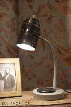 homemade camera lens lamp. DIY Canon