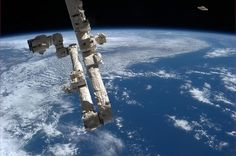 Chris Hadfield@Cmdr_Hadfield | Wow, what a huge piece of debris! Maybe I can grab it with the Canadarm2. | Apr 1, 2013