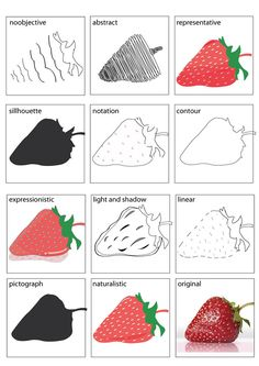 Graphic Stylisation : Strawberry on Behance abstract drawing abstraction Middle School Art, Art School, Painting Lessons, Art Lessons, Art Classroom Management, High School Art Projects, Art Worksheets, Book Sculpture, Elements Of Art