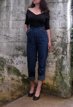 1950's jeans - love the pockets! | via Etsy.