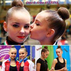 Collage Arina & Dina AVERINA TWINS from Russiaa