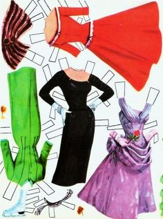 Doris Day Paper Doll clothes