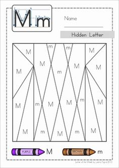 Hidden Letters - an upper and lower case letter discrimination activity Hidden Alphabet, Hidden Letters, Kids Math Worksheets, Alphabet Worksheets, Teaching The Alphabet, Student Teaching, Letter Identification Activities, Pre K Activities, Alphabet Coloring Pages
