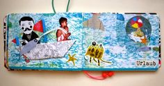 TravelJournal Art Journal Seiten von Britta für www.danipeuss.de | #MixedMediaMontag