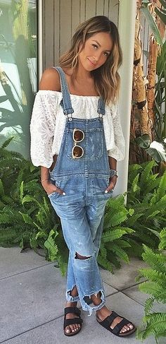 Overall Outfit Ideas Pictures 11 cool denim overall spring outfit ideas for college page Overall Outfit Ideas. Here is Overall Outfit Ideas Pictures for you. Overall Outfit Ideas the cutest overall outfit l overall style ideas l overalls. Boho Outfits, Spring Outfits, Casual Outfits, Cute Outfits, Outfit Summer, Modest Outfits, Outfits With Overalls, Cold Spring Outfit, Fashion Clothes