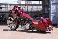 Micheal Ballards bagger (owner of Full Throttle Saloon ) Custom Baggers, Custom Harleys, Custom Motorcycles, Custom Bikes, Harley Bagger, Bagger Motorcycle, Full Throttle Saloon, Road Glide, Hot Bikes