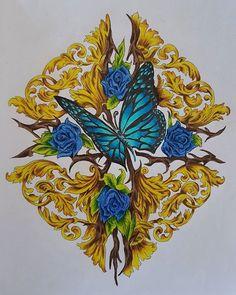 Bennett Klein with Colour My Sketch Book - butterfly #colouringforadults #colourmysketchbook #bennettklein