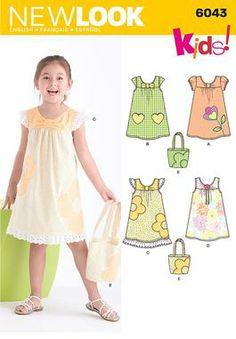 New Look pattern 6043: Child's Dress & Bag