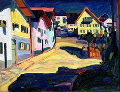 Wassily Kandinsky (Russian, 1866-1944) - Murnau, Burggrabenstrasse 1, 1908