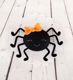 Halloween adornos araña negro animales fieltro por BelkaUA en Etsy