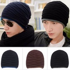 be3e4618b6ad8 Details about Men Women Slouch Baggy Oversized Winter Warm Ski Rib Knit  Beanie Hat Cap Hip-Hop