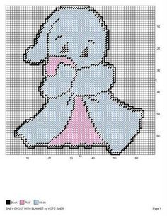 BABY GHOST WITH BLANKET by HOPE BAER -- WALL HANGING