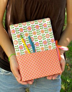 a notebook cover, what a great idea!
