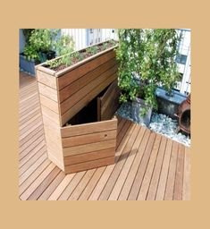hochbeet mit integriertem stauraum The time used on balconies through these summer time days as Backyard Landscaping, Backyard Ideas, Diy Garden Projects, Raised Beds, Terrazzo, Outdoor Furniture, Outdoor Decor, Storage Spaces, Modern