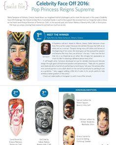 @nailsmagazine Celebrity Face off 2016