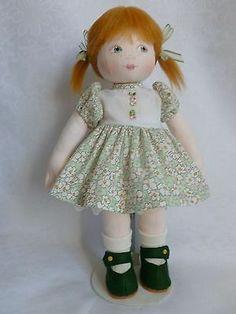 "KATY. A 14""ins OOAK Handmade cloth/rag doll by Brenda Brightmore. | eBay"