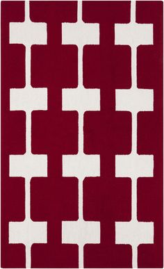 New red Printemps rug from Surya (PRN1003-58)