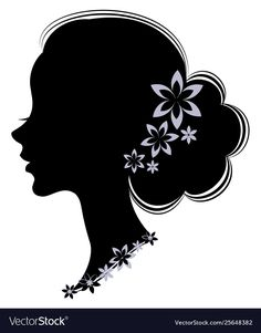 Simple Wall Paintings, Painted Clay Pots, Girl Silhouette, Cute Woman, Mandala Design, Blue Flowers, Design Art, Art Drawings, Clip Art