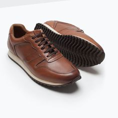 ZARA - MAN - LEATHER RUNNING SHOES